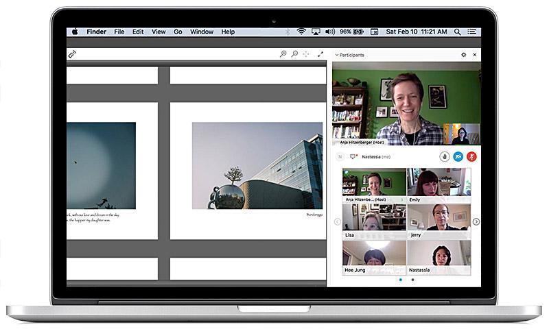Screenshot of a live online class