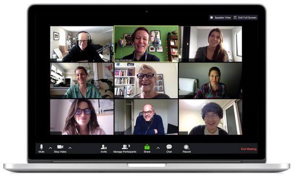 Screenshot of live, online class
